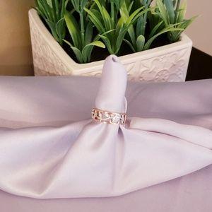Rose gold&Silver Leaf Ring
